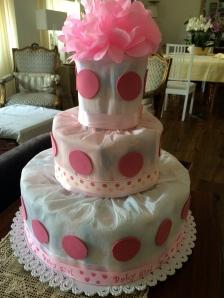 torta di pannolini the little pink pepper